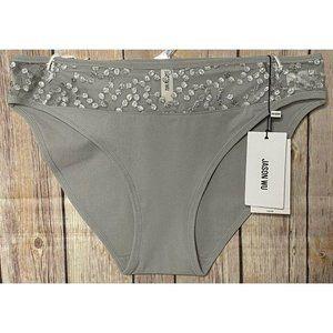 Jason Wu Sz M Bikini Panties Embroidered Satin Dot